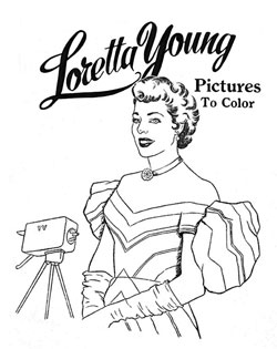Loretta Young Coloring Book Page 7